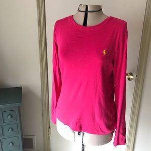 Ralf Lauren hot pink long sleeve shirt